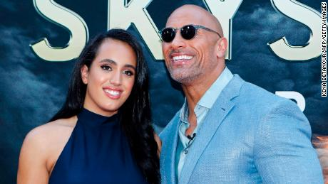 Photo of Dwayne Johnson says his mind is blown by daughter Simone following him into WWE