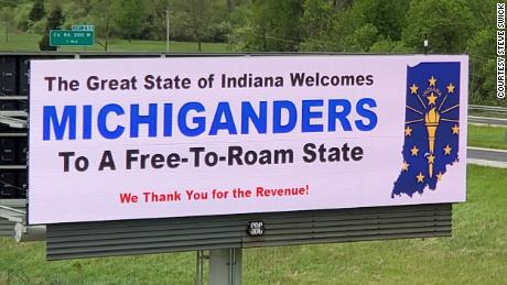 Photo of Two Indiana billboards suggest people think twice about going to Michigan during the pandemic