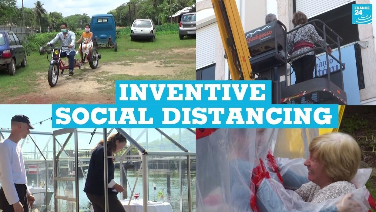 Photo of Covid-19: Inventive social distancing around the world