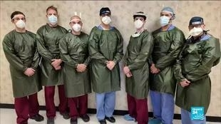 Photo of Fashion designers sew medical gowns for New York hospital staff