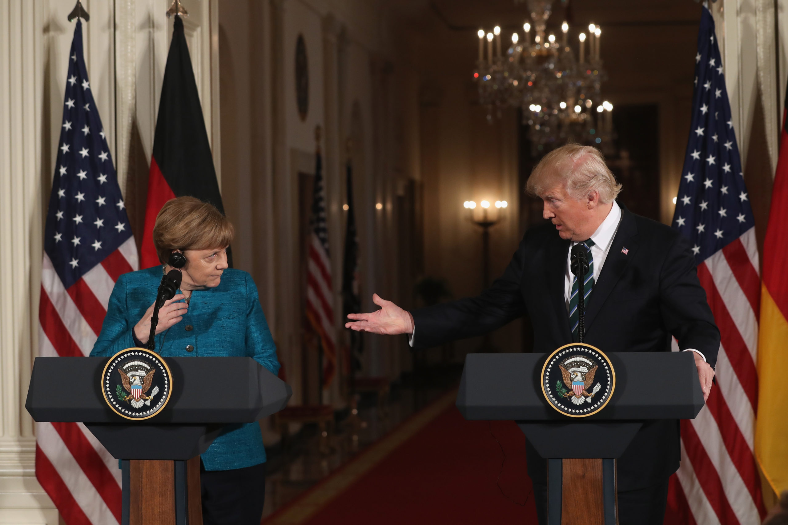 Photo of Trump says Merkel and others view us as the world leader on fighting coronavirus