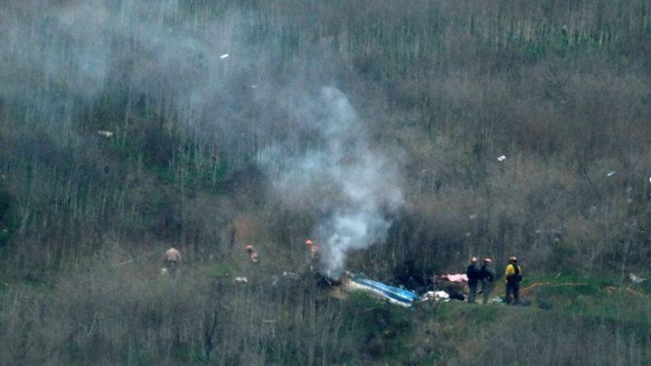 Photo of Kobe Bryant helicopter crash post-mortem released