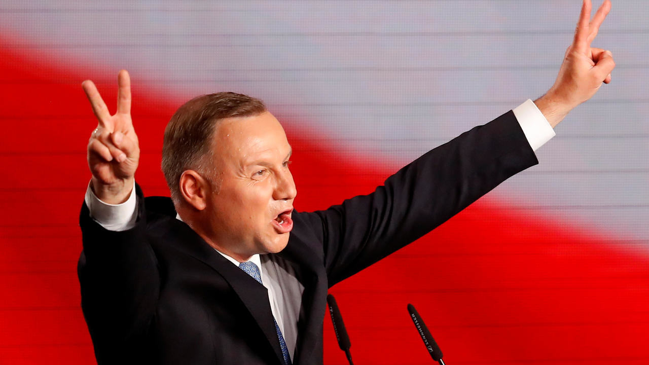 Photo of Election exit poll shows victory for incumbent Polish President Duda
