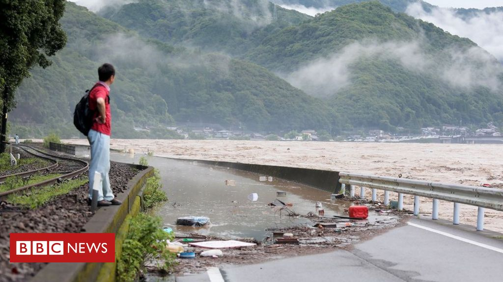 Photo of Japan flooding: Many feared dead in flooded care home