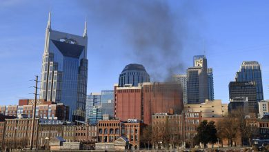 Photo of Christmas Day explosion in Nashville was 'intentional', say police