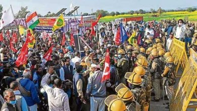Photo of Police step up security as thousands join Indian farmers protests