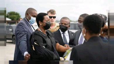 Photo of Widow of slain Haitian president returns home