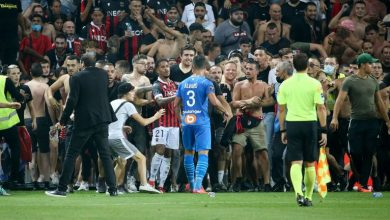 Photo of Nice docked a point and Marseille players and coach suspended following brawl